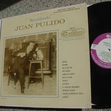 Juan Pulido Recordando lp record RCA CAM-75 CAMDEN Promo Mexico