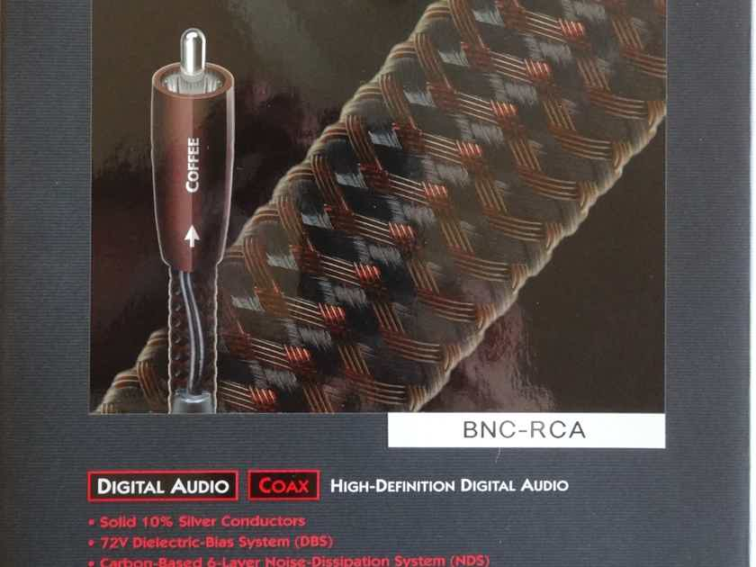 Audioquest Coffee 1.5 metre digital cable, with BNC-RCA connectors & 72v DBS