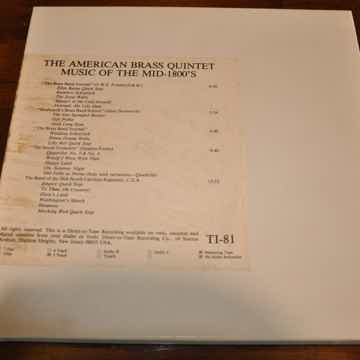 The American Brass Quintet - Music of the Mid 1800's MA...