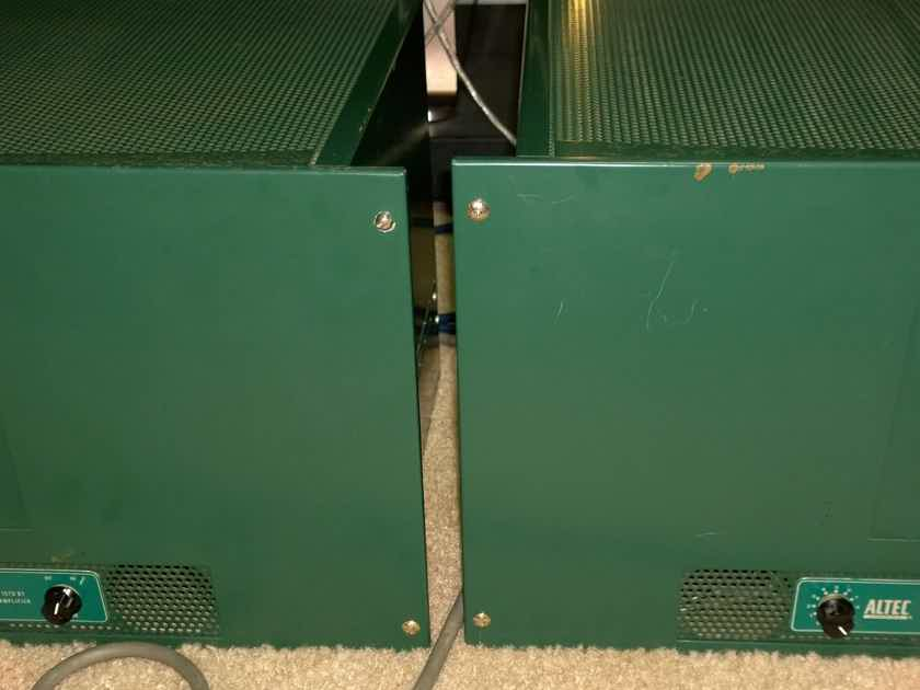 Pair of Altec Lansing 1570BT 1570B High Power Triode Tube Amplifiers with Peerless Iron & Fully Recapped