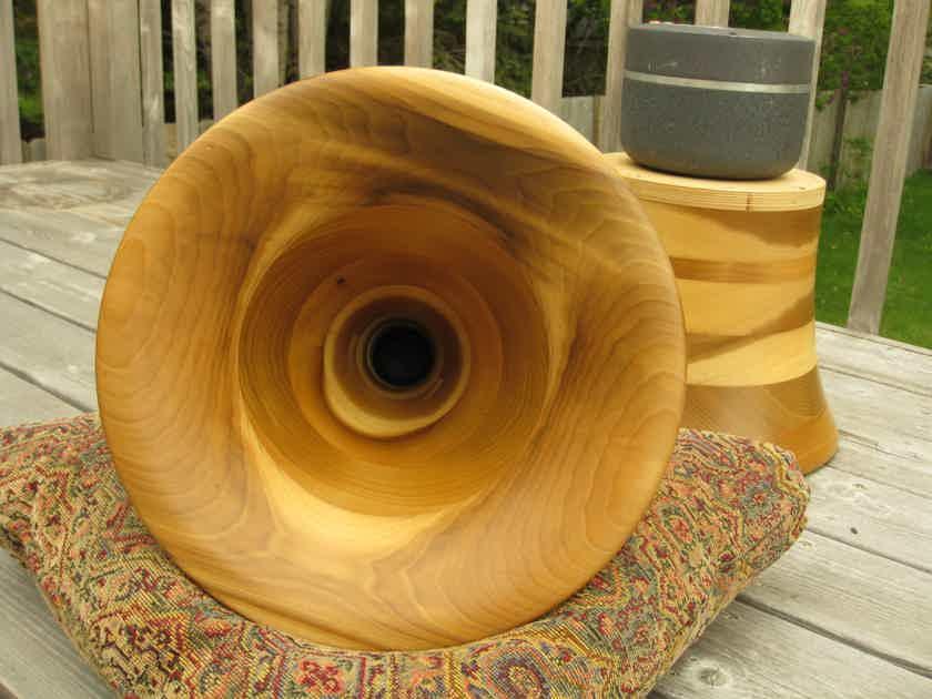 350hz Tractrix wood horns