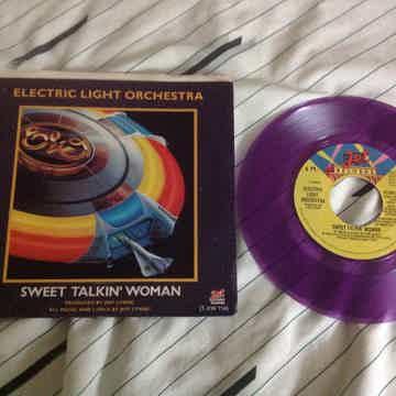 ELO Sweet Talkin' Woman/Fire On High Purple Vinyl 45 Wi...