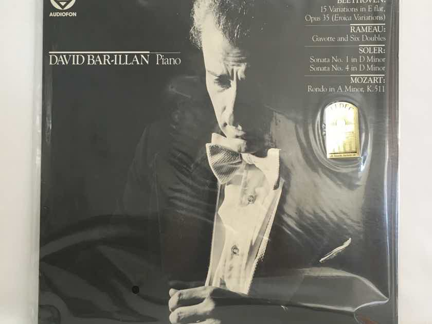 REDUCED !  RARE SEALED Audiophile Pressing:David Bar-Illan (Piano) Beethoven, Rameau, Soler and Mozart... $30