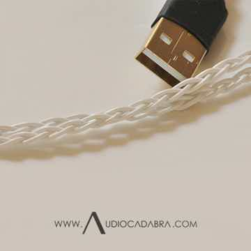 Audiocadabra Ultimus3™ Plus Solid-Silver Dual-Headed USB Cable