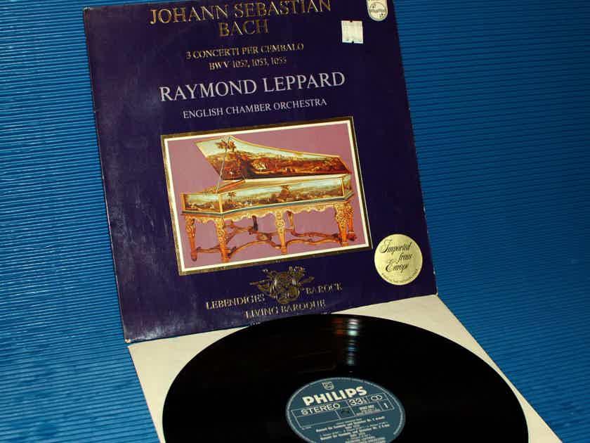 Bach / Leppard - 3 Concerti Per Cembalo - Philips 1971 1st press