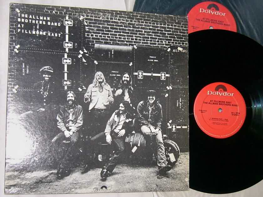 THE ALLMAN BROTHERS BAND - - AT FILLMORE EAST - RARE 1974 BLUES 2LP SET - POLYDOR