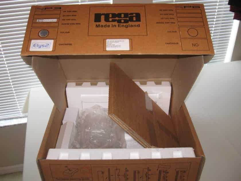Rega RP3 Turntable, RB303 Tonearm, Elys 2 Cartridge and Factory Box