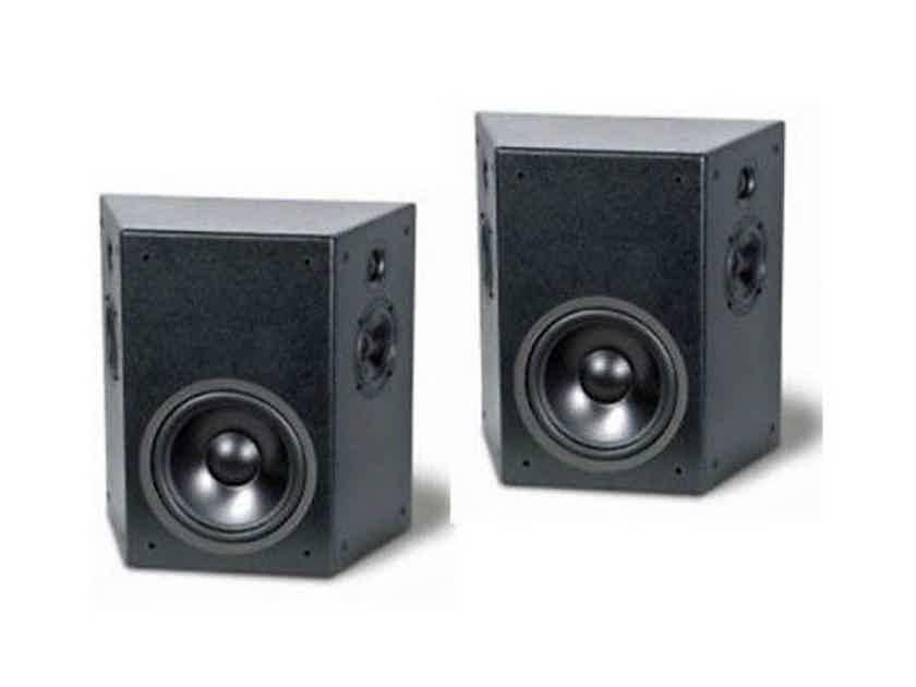 TruAudio PHT-SUR On-Wall Surround Speakers Textured Black Pair; PHTSUR (New / Old Stock) (13147)