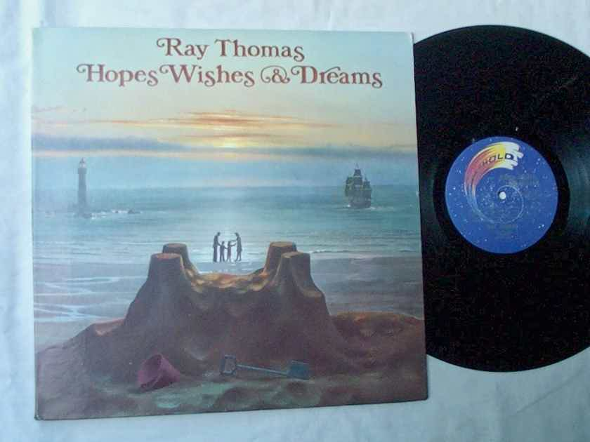 RAY THOMAS LP~HOPES, WISHES - & DREAMS~rare orig 1976 album on Threshold Records~with mini poster