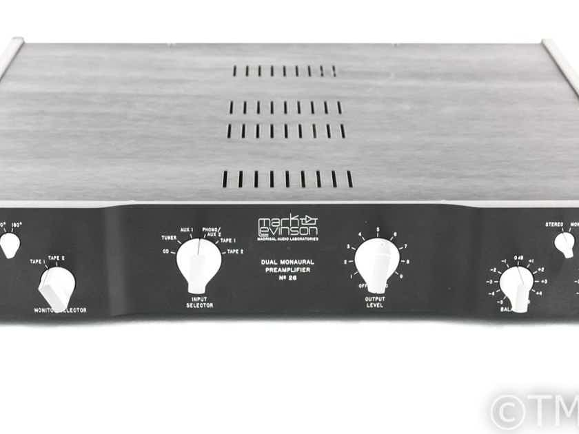 Mark Levinson No. 26 Dual Mono Preamplifier; No 26; PLS-226 Power Supply (27807)