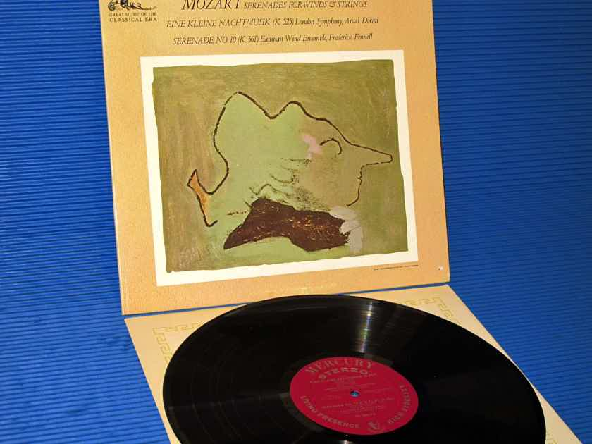 """MOZART / Dorati / Fennell  - """"Serenades for Winds & Strings"""" -  Mercury Living Presence 1964 Early Pressing"""