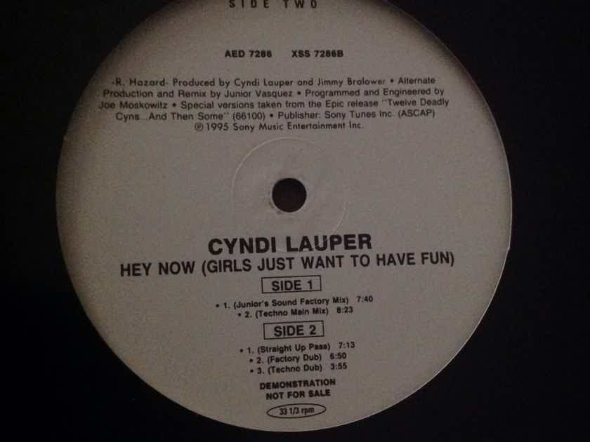 Cyndi Lauper - Hey Now(Girls Just Want To Have Fun) Epic Records Dance Promo 12 Inch  5 Mixes Vinyl NM