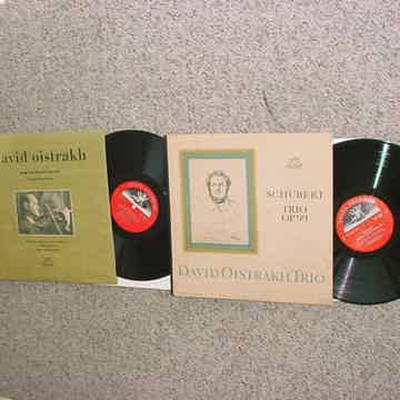 ANGEL CLASSICAL Violin David Oistrakh 2 lp records Khatchaturian concertos and Schubert trio op99