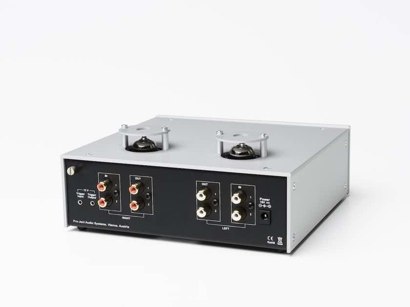 NEW Pro-Ject Audio Systems Tube Box DS2 Premium Phono Preamplifier with Tube Output SILVER WALNUT