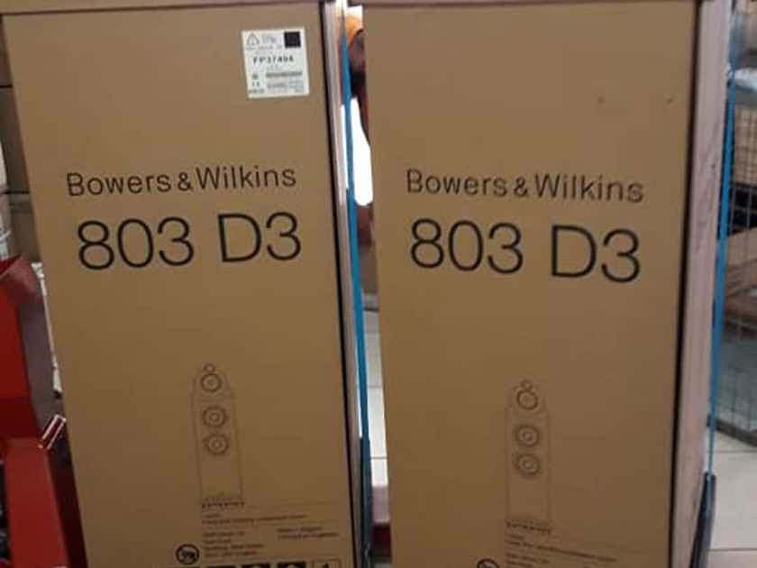 B&W (Bowers & Wilkins) 803 D3 in Black Gloss pair