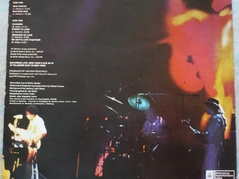 Jimi Hendrix - Band Of Gypsys 1970. PGP RTB, 1973. LPV 5762 Pol. Yugoslavia.