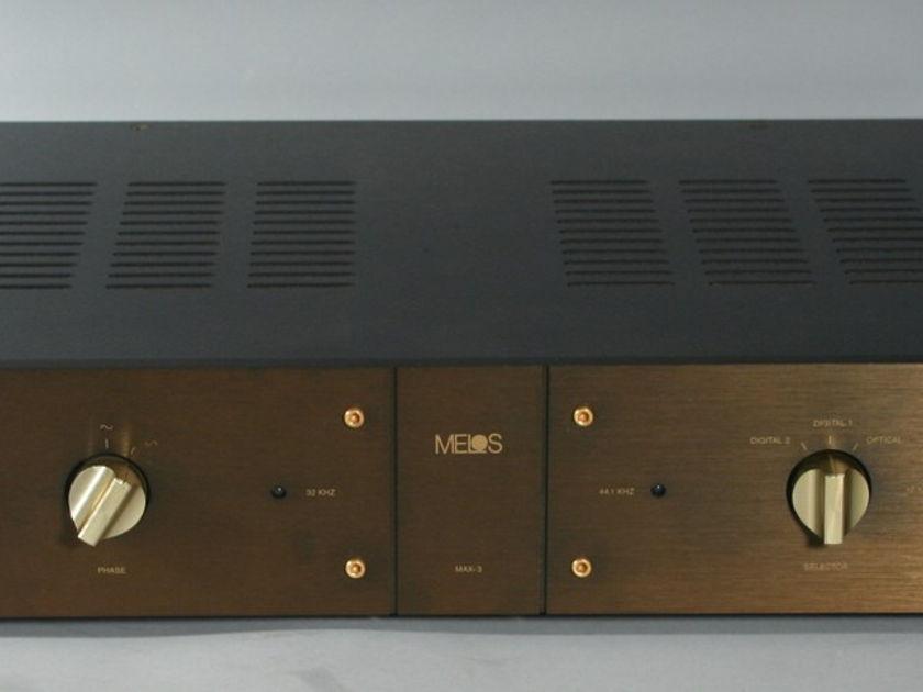 Melos MAX-3 Reference Tube Dac with Telefunken ECC88 6DJ8's