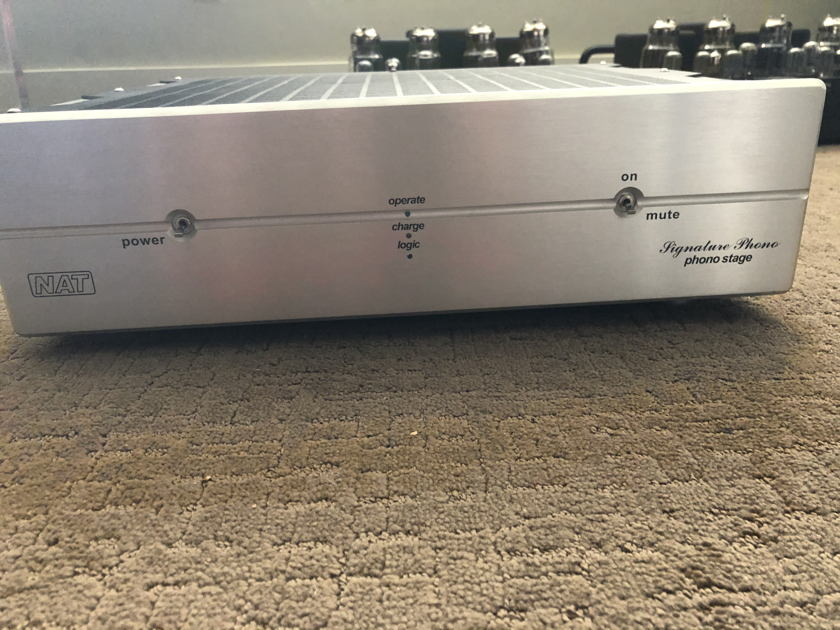 Reduced Again! NAT Audio  Phono Signature NEW BATTERIES!!   Silver or Black face