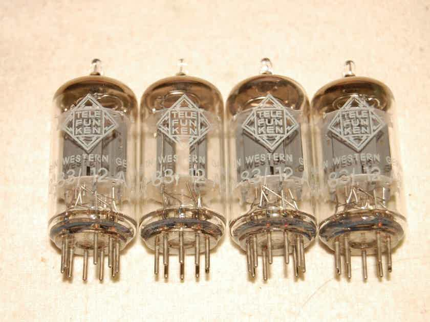 4 super nice same dated 1967 telefunken smooth plate 12ax7 tubes