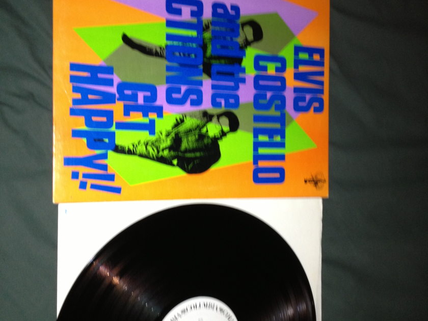 Elvis Costello - Get Happy!! White Label Promo LP NM