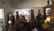 This is the living area, in panorama, I'm trying to fill with the Thiel system.
