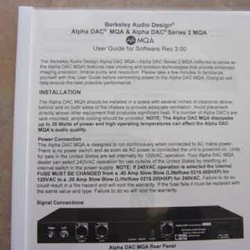 Berkeley Audio Design Alpha DAC Series 2 MQA