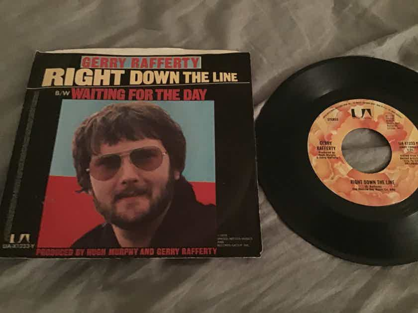 Gerry Rafferty Right Down The Line 45 With Picture Sleeve