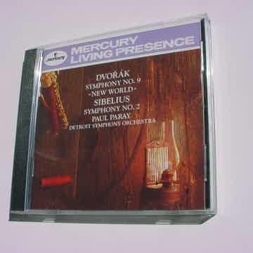 CD Mercury Living Presence Dvorak symphony no9 new world Sibelius Paul Paray 1992