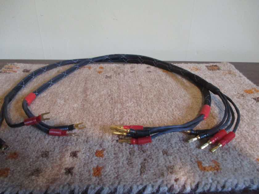 DIY custom bi-wire speaker cable 3 ft  spade to banana