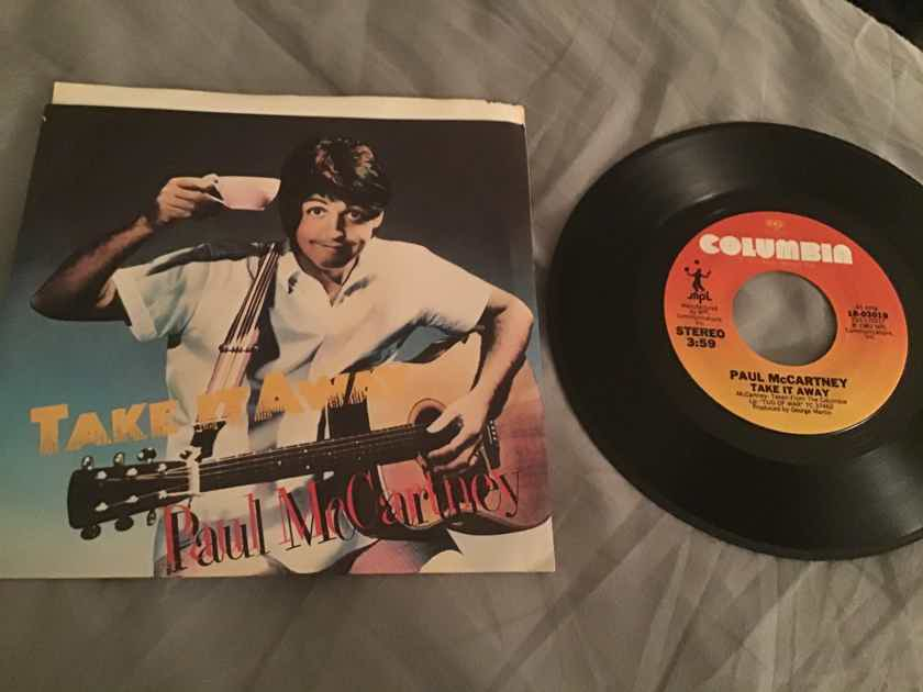 Paul McCartney  Take It Away 45 With Picture Sleeve Vinyl NM