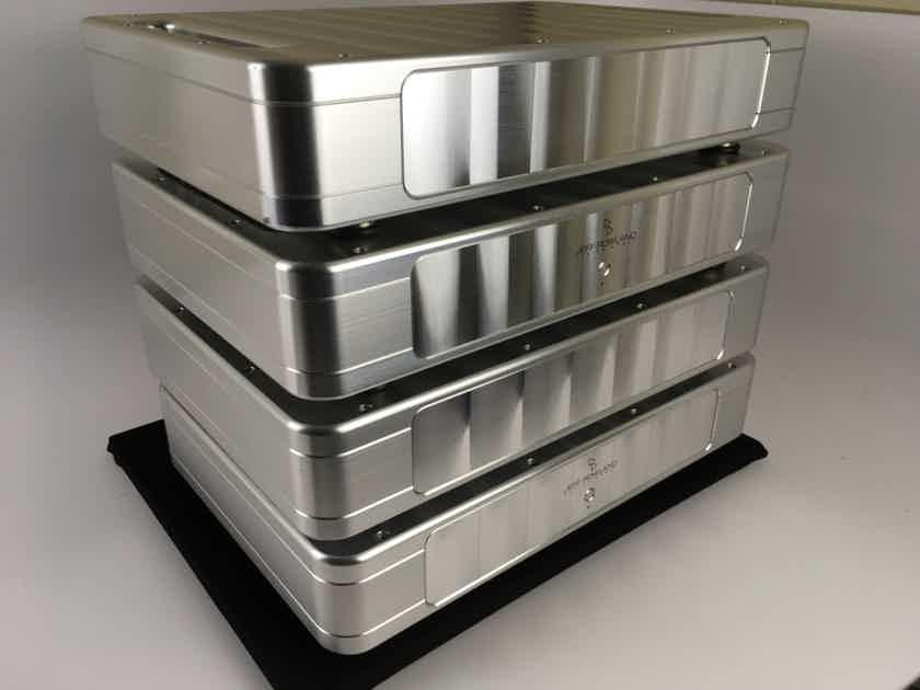 Jeff Rowland Model 12 4 Piece Monoblock Amplifiers 200W Solid Aluminum