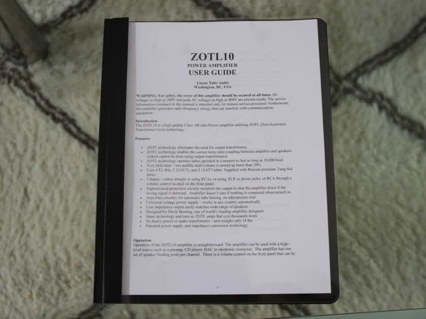 LTA David Berning ZOTL10 Amp with Volume Control -  Mint Condition!
