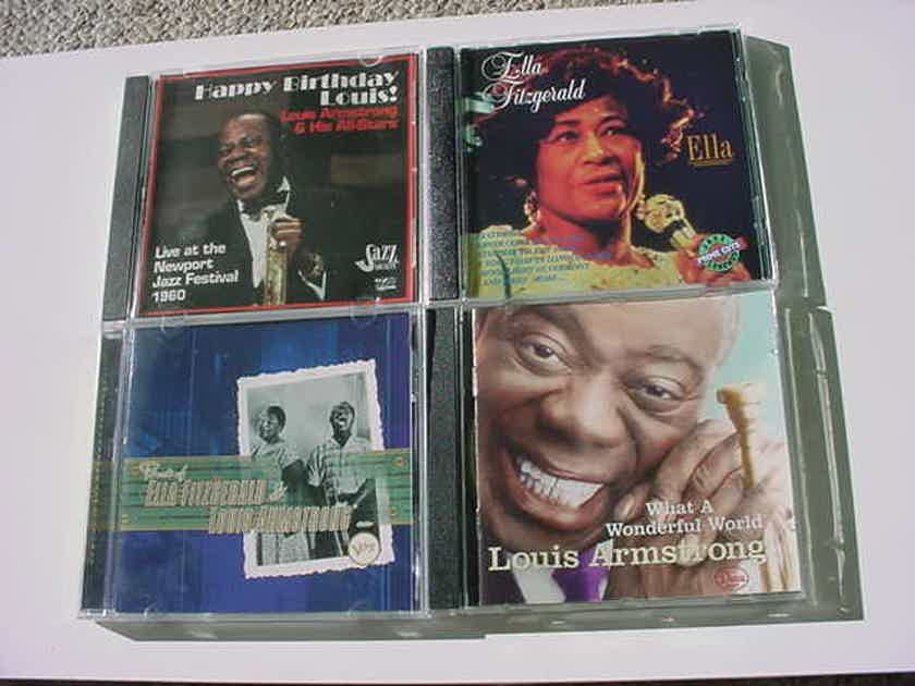 JAZZ CD LOT OF 4 CD'S - Louis Armstrong Ella Fitzgerald