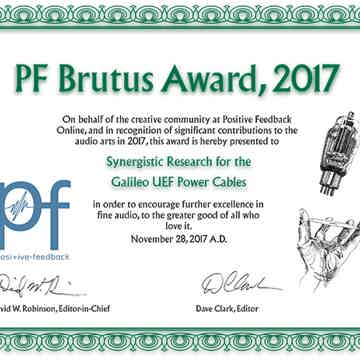 Positive Feedback Brutus Award 2017