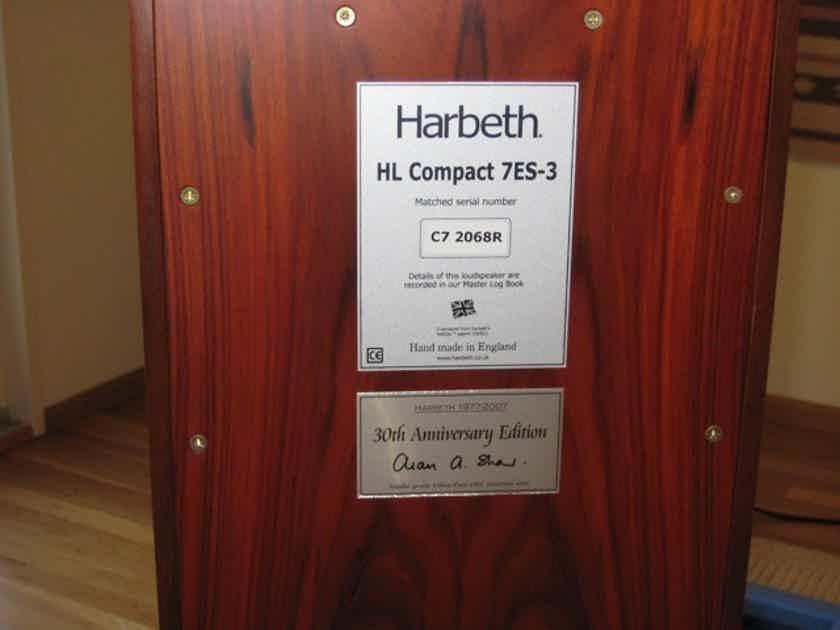 Harbeth Compact 7es III - Rosewood! - with Skylan stands!