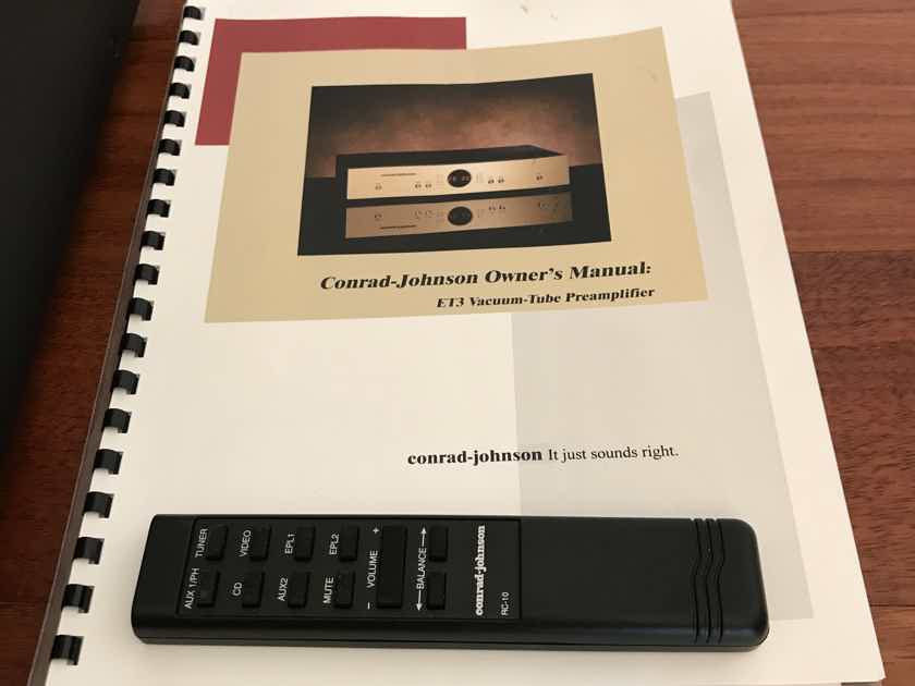 conrad johnson et3 manual