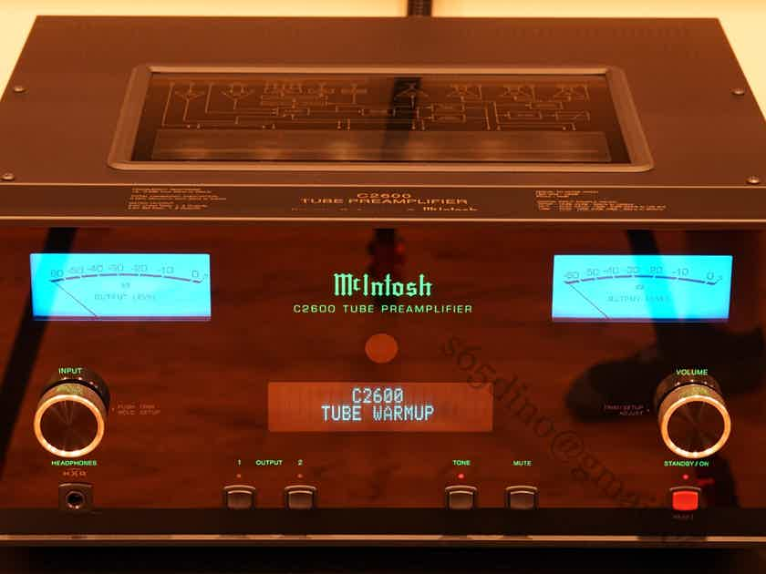 McIntosh C2600 C-2600 2-Channel Vacuum Tube Preamplifier Preamp AWESOME