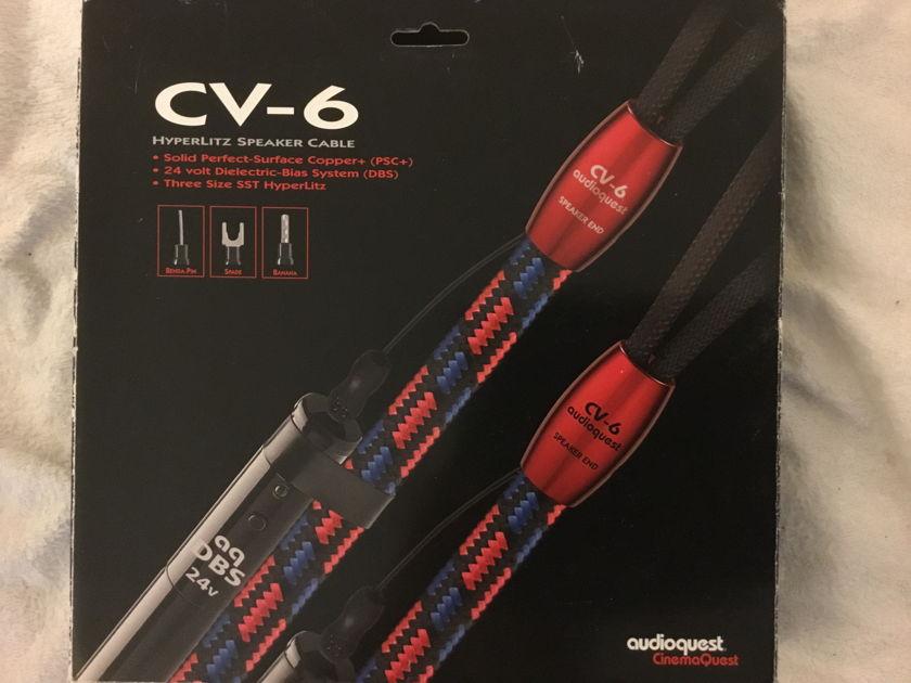 Audioquest CV-6 CV6 ~ 10' banana plugs - AFTERMARKET BANANAS