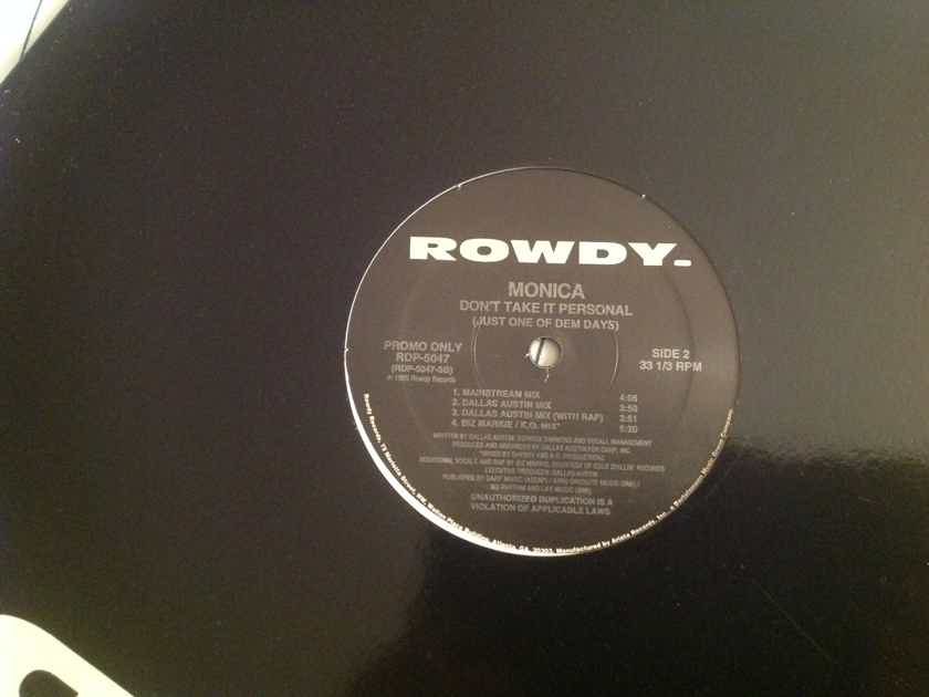 Monica Don't Take It Personal Rowdy Records Promo 12 Inch