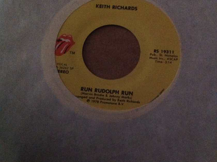 Keith Richards(Rolling Stones) - Run Rudolph Run/The Harder They Come Rolling Stones Records 45 NM