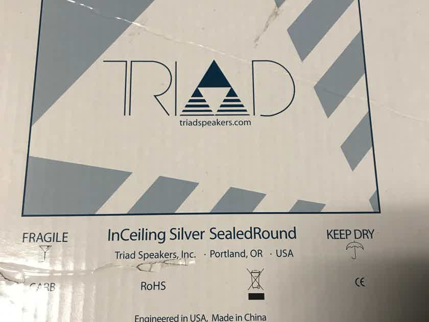 Triad Speakers InCeiling Silver Sealed Round