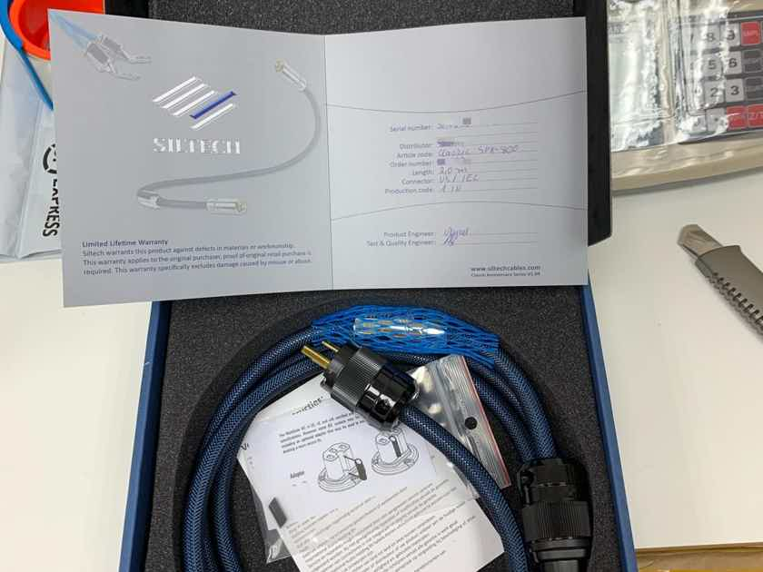 Siltech Cables SPX-380 Power Cord 2M Brand New!!
