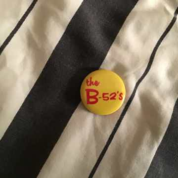 The B-52's The B-52's Small Yellow Logo Pin
