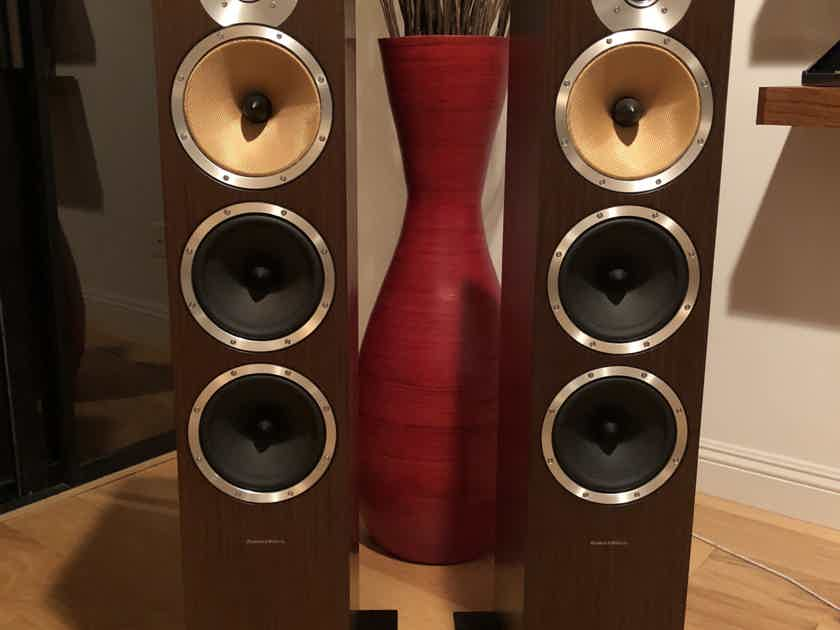 Bowers and Wilkins CM9 Floor Standing 3-way Speakers rare color: Wenge Wood!