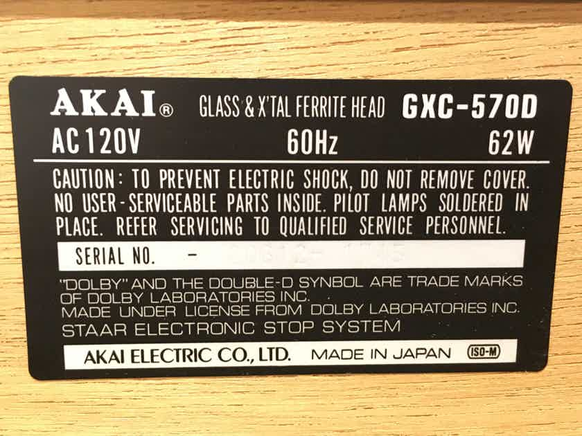 Akai GXC-570D Fantastic Condition w/ Manual, Cleaned & Serviced
