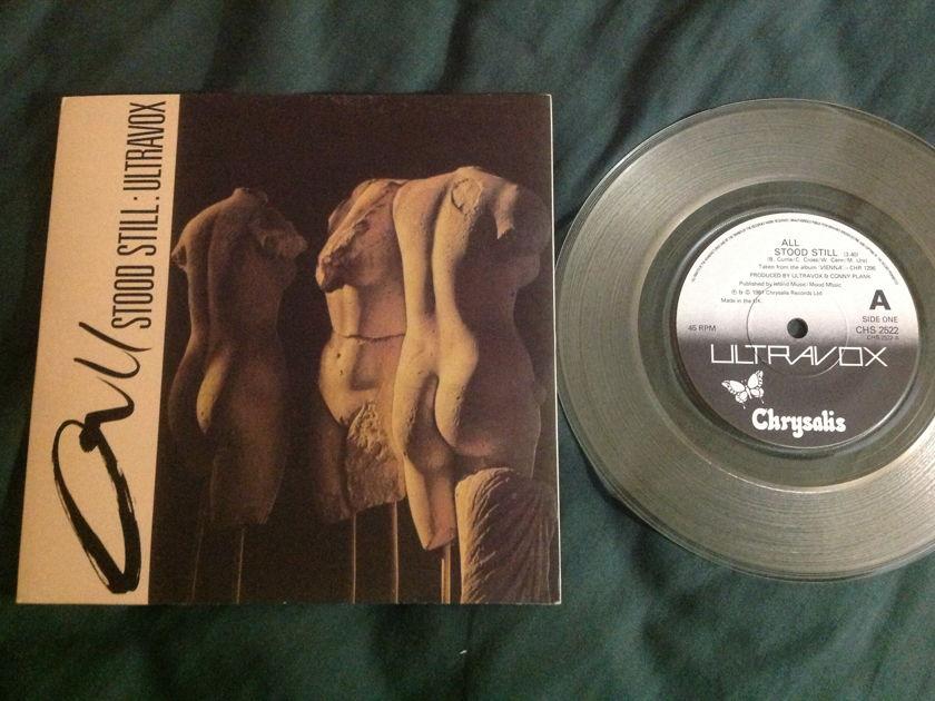 Ultravox - All Stood Still Clear Vinyl UK 45 With Sleeve Chrysalis  Label