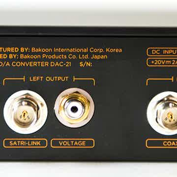 Bakoon DAC-21 -- Battery-Powered DSD DAC -- Small Package / Amazing Sound!