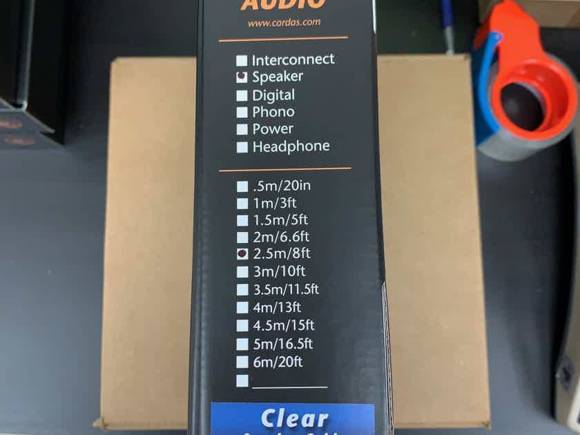 Cardas  Clear Speaker Cables 2.5M Spades New!!