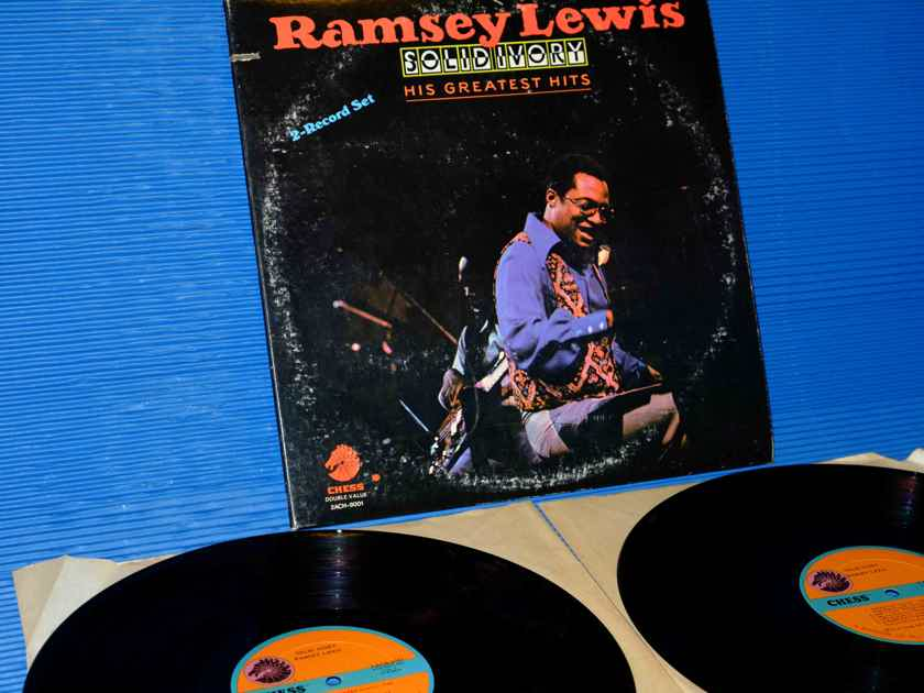 "RAMSEY LEWIS  - ""Solid Ivory /Greatest Hits"" - Chess Records 1976 1st Pressing 2 LP's"
