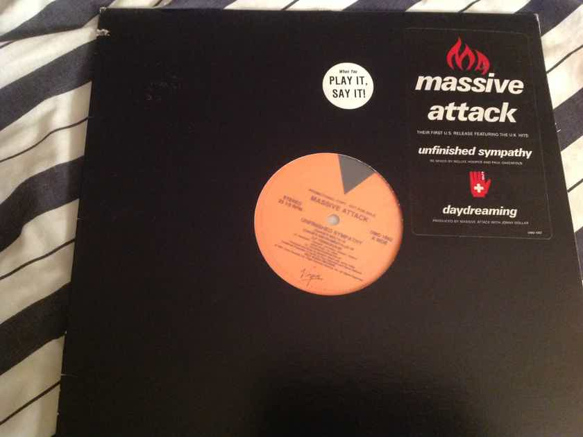 Massive Attack  Unfinished Sympathy 12 Inch EP Promo Virgin Records